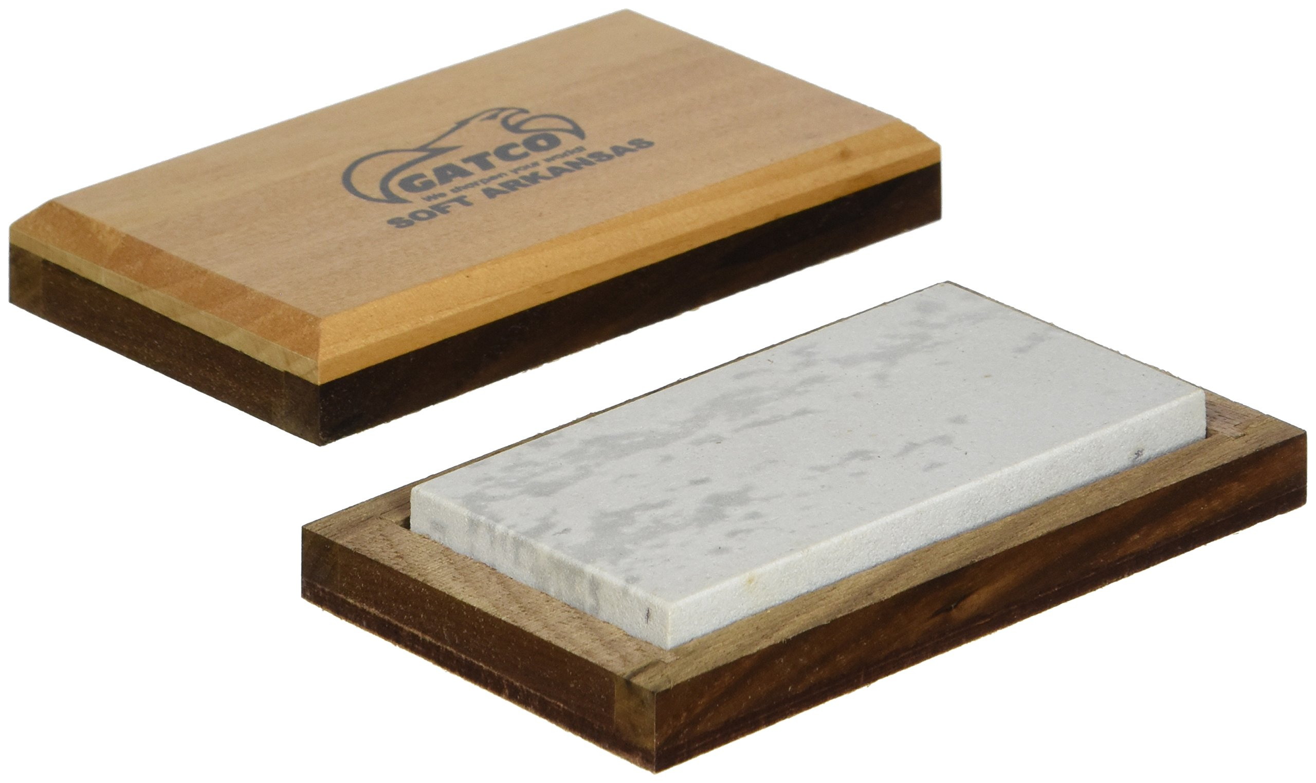 GATCO Soft Arkansas Stone with Case, Natural Stone, 4-Inch