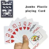 Neasyth Waterproof Plastic Playing Cards,Jumbo Index, for Texas Hold'em, Blackjack, Pinochle, Euchre, for Magic Props, Pool Beach Water Games
