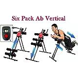 EVANA Ab Vertical 5 Minute Shaper Fitness Equipment Vertical Abdomen Abdominal Ab Abdomen Machine Ab Coaster Round Waist Trainer Power Plank