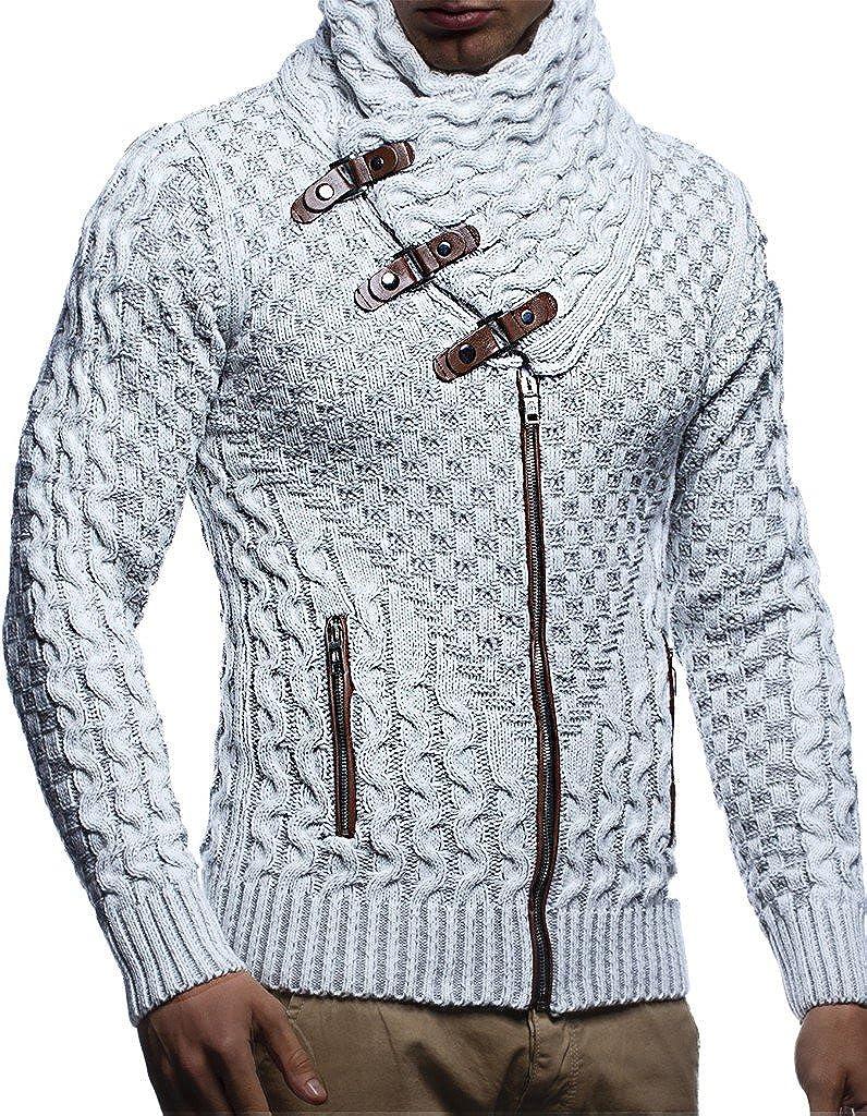 LEIF NELSON Herren Jacke Pullover Strickjacke Hoodie Sweatjacke Freizeitjacke Winterjacke Zipper Sweatshirt LN5340