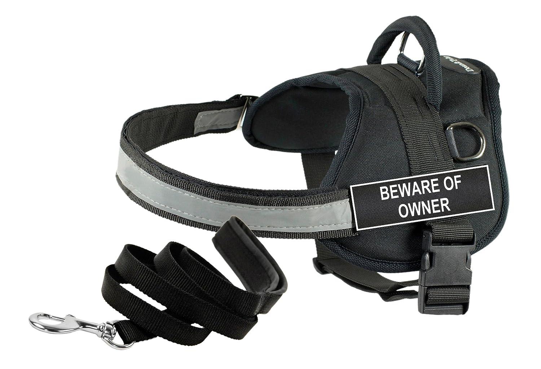 Dean & Tyler DT Works Beware of Owner, Cablaggio, Grande, Grande, Grande, con 1,8 m Padded Puppy guinzaglio. db2d32