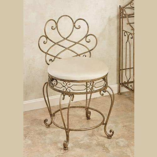 Reviewed: Touch of Class Abbianna Vanity Chair Antique Gold