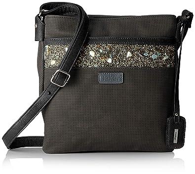 Rieker H1014, Women's Shoulder Bag, Black (RauchSchwarz