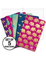 """Field Notebook - Gold Foil Patterns - Lined Memo Book (3.5""""x5.5"""")"""