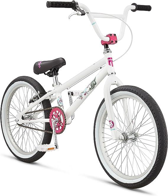 Mongoose LSX - Bicicleta para niña, 50,8 cm, M8042, Blanco: Amazon.es: Deportes y aire libre