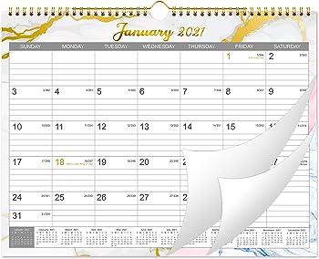 MaaIbok 12 Months Wall 2021 Calendar with Julian Dates