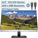 "2020 Newest HP 23.8"" Full HD (1080p) IPS LED PC Computer Monitor Built-in Speakers, VESA Mounting, Height/Tilt Adjustment Erg"