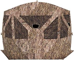 Barronett Pentagon Ground Hunting Blind, 4 Person Pop Up Portable