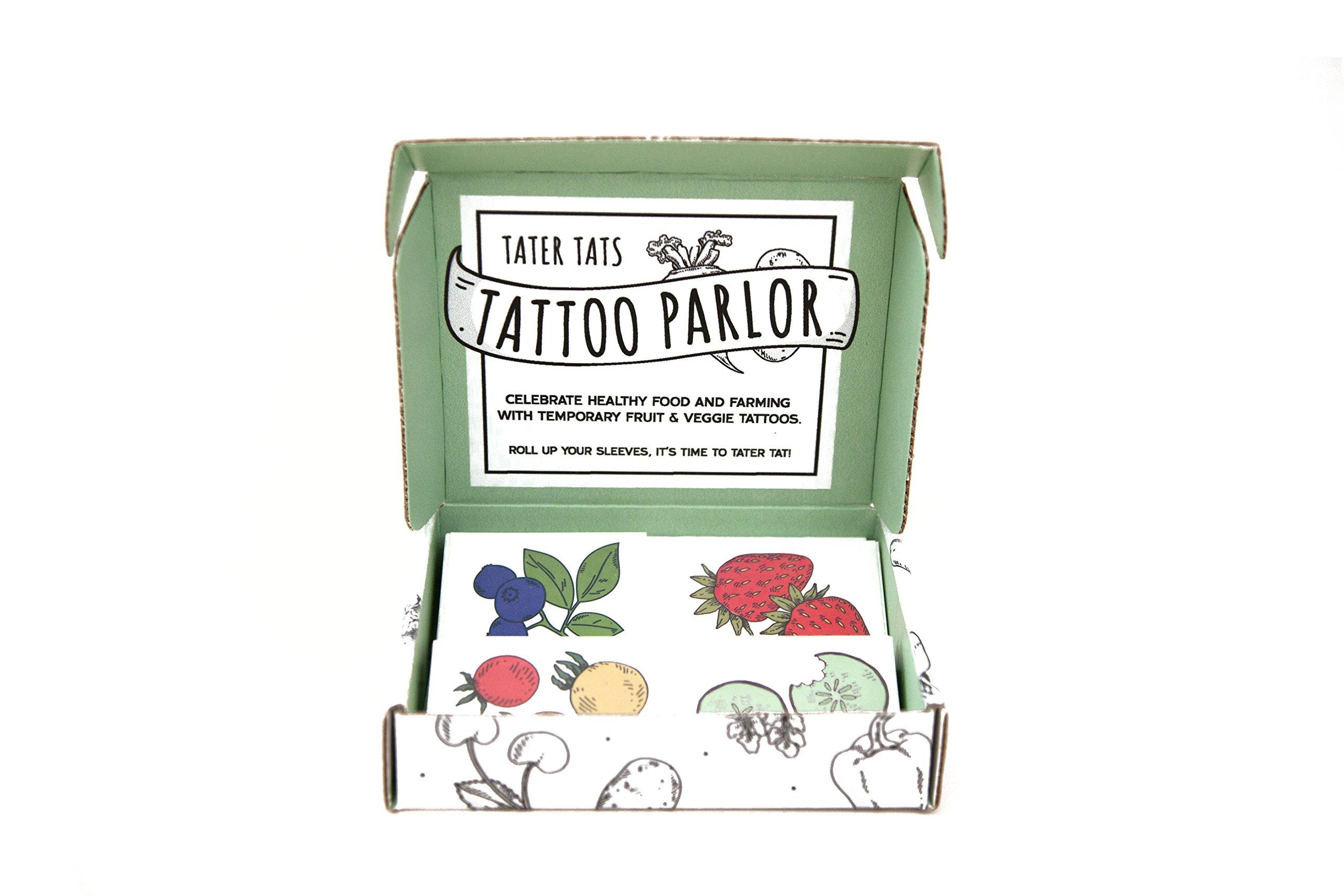 Tater Tats Pop-Up Tattoo Parlor: 100 Temporary Vegetable Tattoos