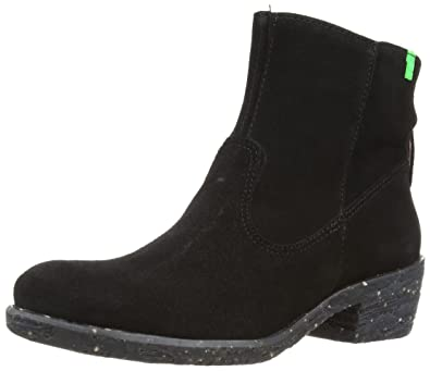 El Naturalista Nc50 Lux Suede Black/Quera, Boots femme - Noir, 36 EU