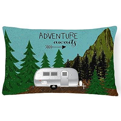 Caroline's Treasures VHA3022PW1216 Airstream Camper Adventure Awaits Canvas Fabric Decorative Pillow, Multicolor, 12Hx16W : Garden & Outdoor