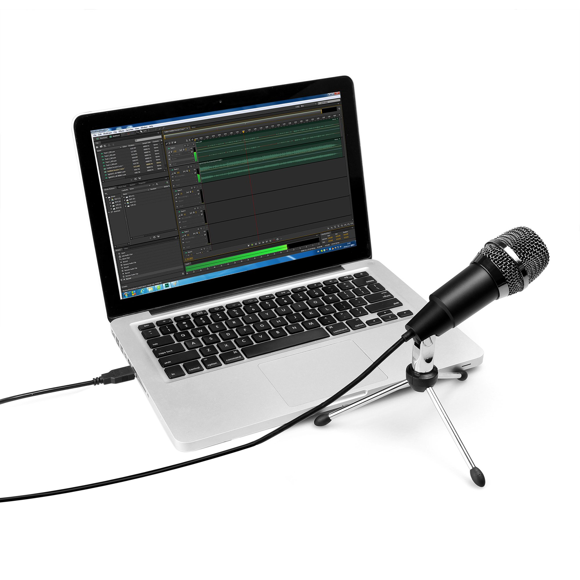 FIFINE TECHNOLOGY USB Microphone,Fifine Plug &Play Home Studio USB Condenser Microphone for Skype, Recordings for YouTube, Google Voice Search, Games(Windows/Mac)-K668 by FIFINE TECHNOLOGY (Image #5)