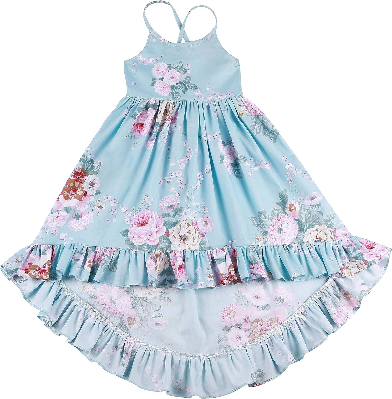 Amazon.com: Somlatrecy - Vestido de verano para niña, diseño ...