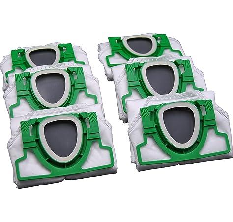 6 Bolsas bolsas de aspiradora para Vorwerk Kobold VK 200 FP200: Amazon.es: Hogar