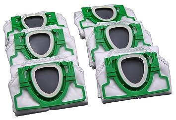 6 eVendix - Bolsas para aspiradora para Vorwerk Kobold 200 ...