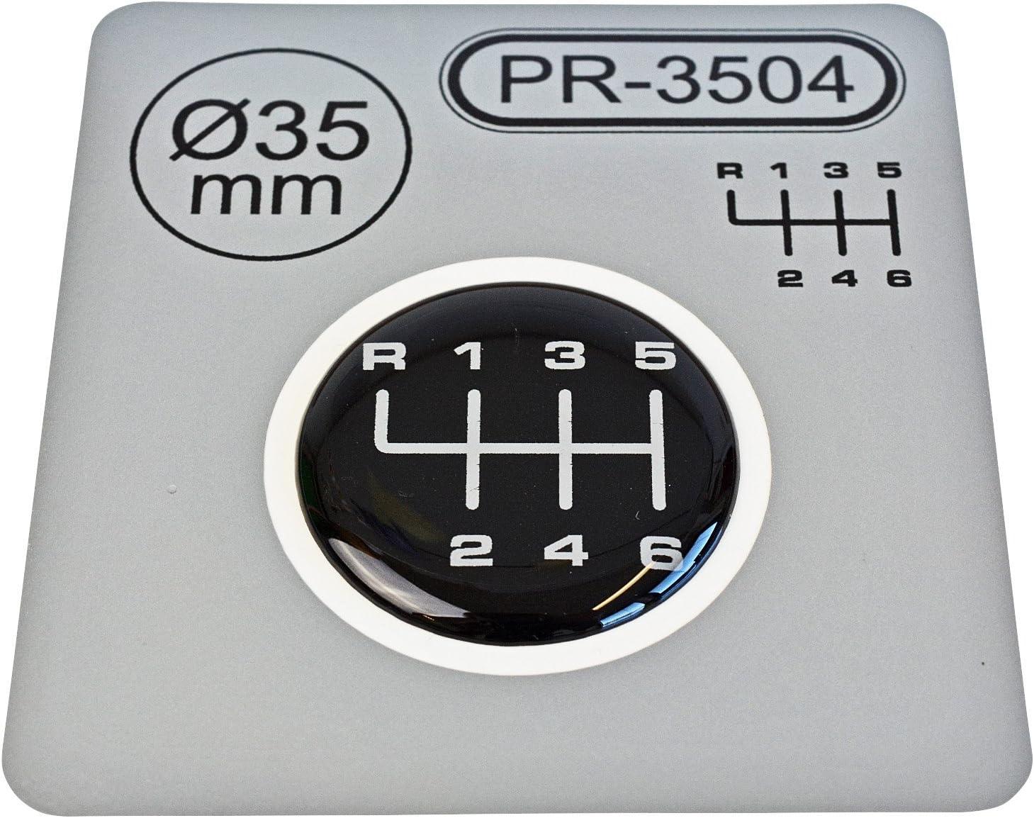 mod/èle 1 1/x schalthebel autocollant Diam/ètre = 35/mm 6/vitesses Pommeau de levier embl/ème silicone Stickers