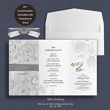 Amazon.com: Weddingbob 5Pcs Foil Stamping Embossing Flora Design ...