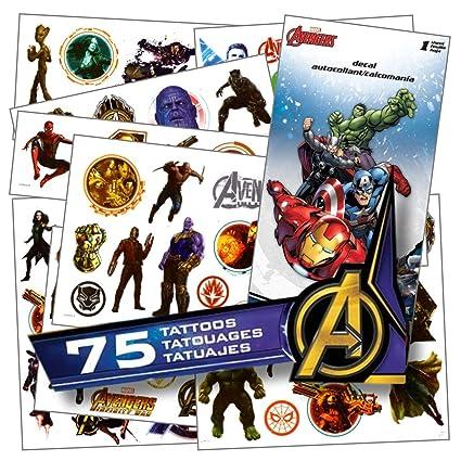 Amazon.com: Avengers Marvel Tattoos - 75 Assorted Infinity War ...