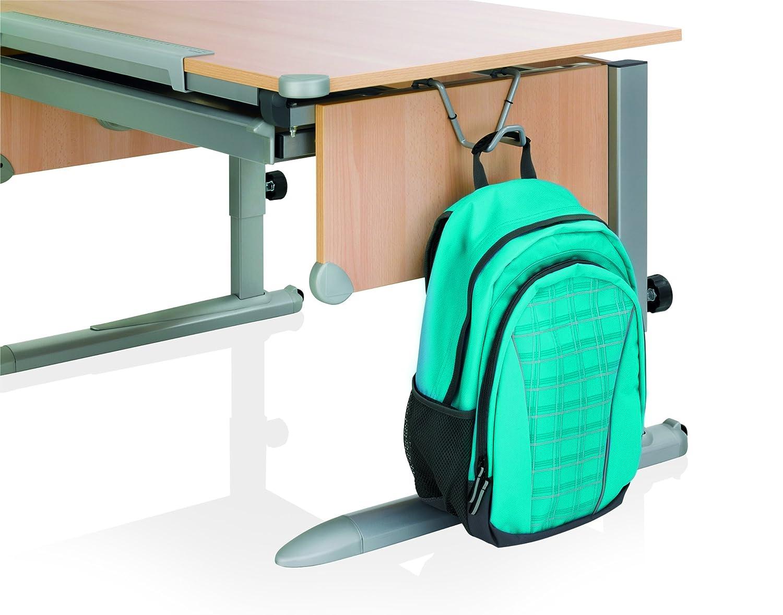 School Kettler Schultaschenhaken Kids Comfort Haken Schultasche f/ür Kettler Kinderschreibtisch Cool Top praktische Erg/änzung zum Schreibtisch College Box silber Logo Duo