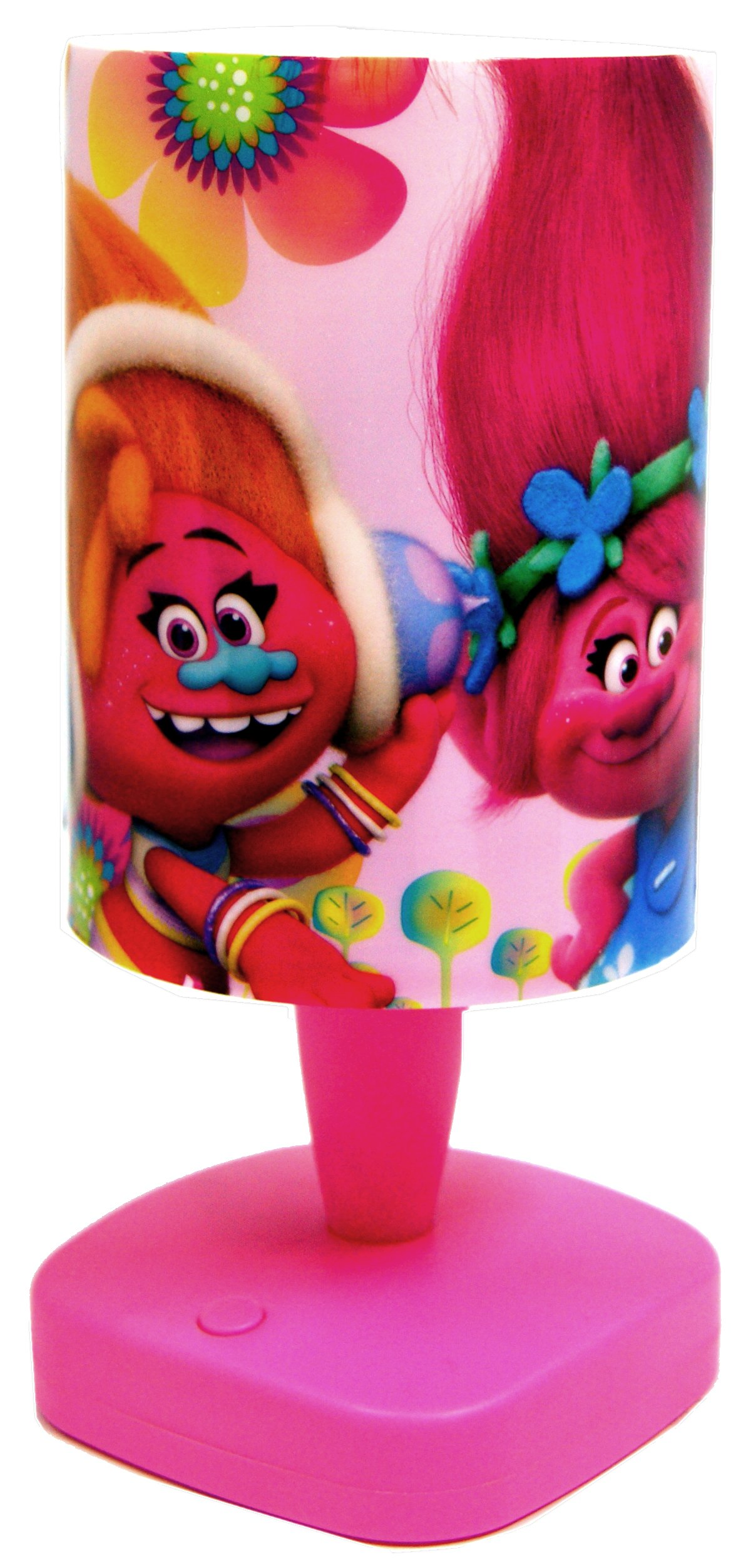 Official Trolls Star&Moon Night Light Lamp,Colour Changing Projection