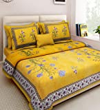Xtore Traditional Jaipuri Print King Size Double Bed Sheet with 2 Pillow Covers (100% Cotton) - Premium Quality