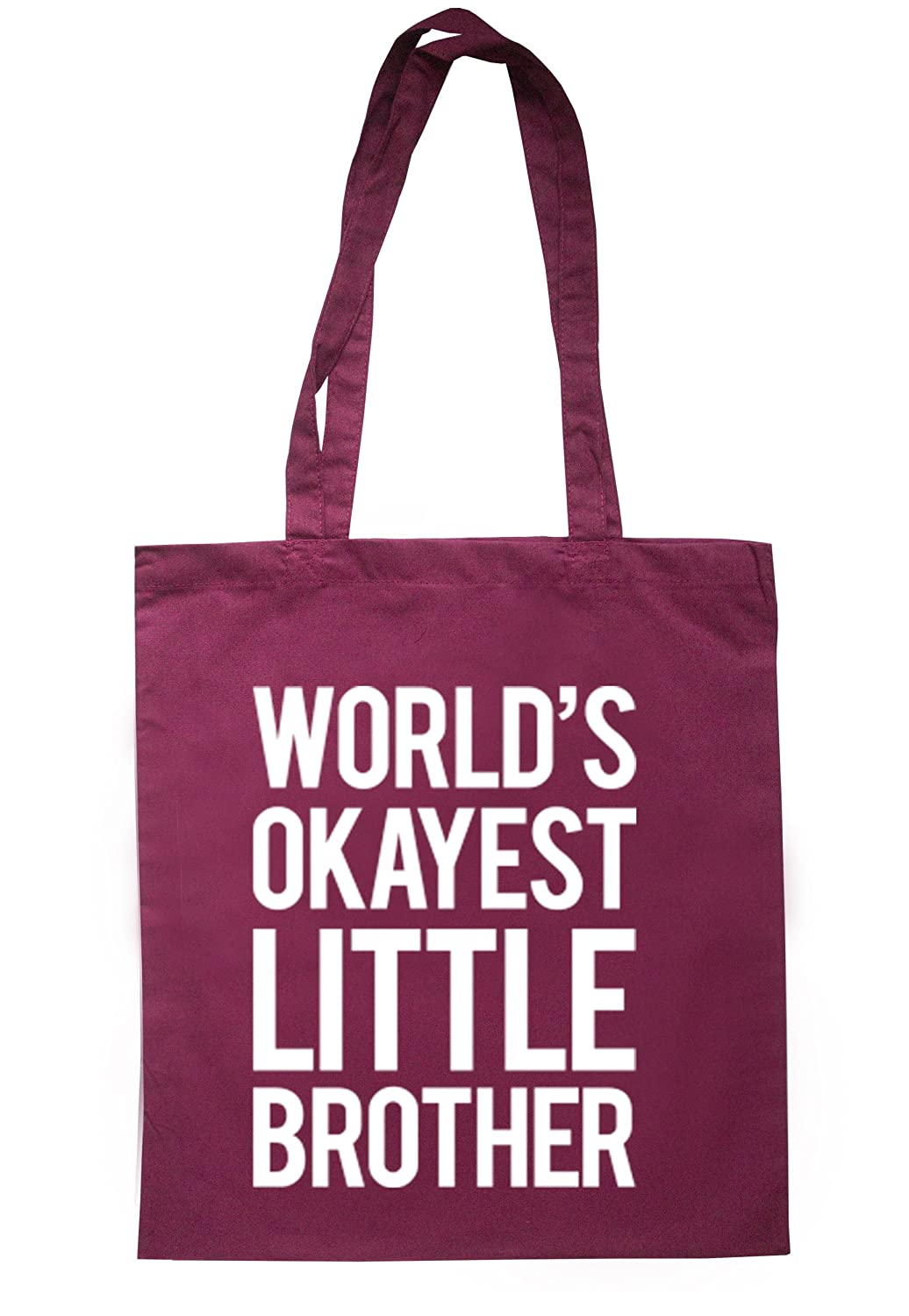 illustratedidentity Worlds Okayest Little Brother Tote Bag 37.5cm x 42cm with long handles