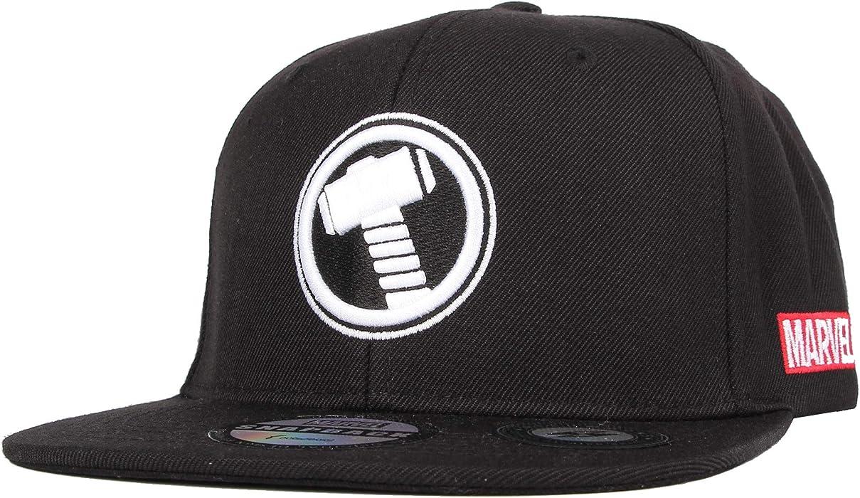27e84493dc8 WITHMOONS Marvel Baseball Cap Thor Mjolnir Hammer Snapback Hat HL21069 ( Black)