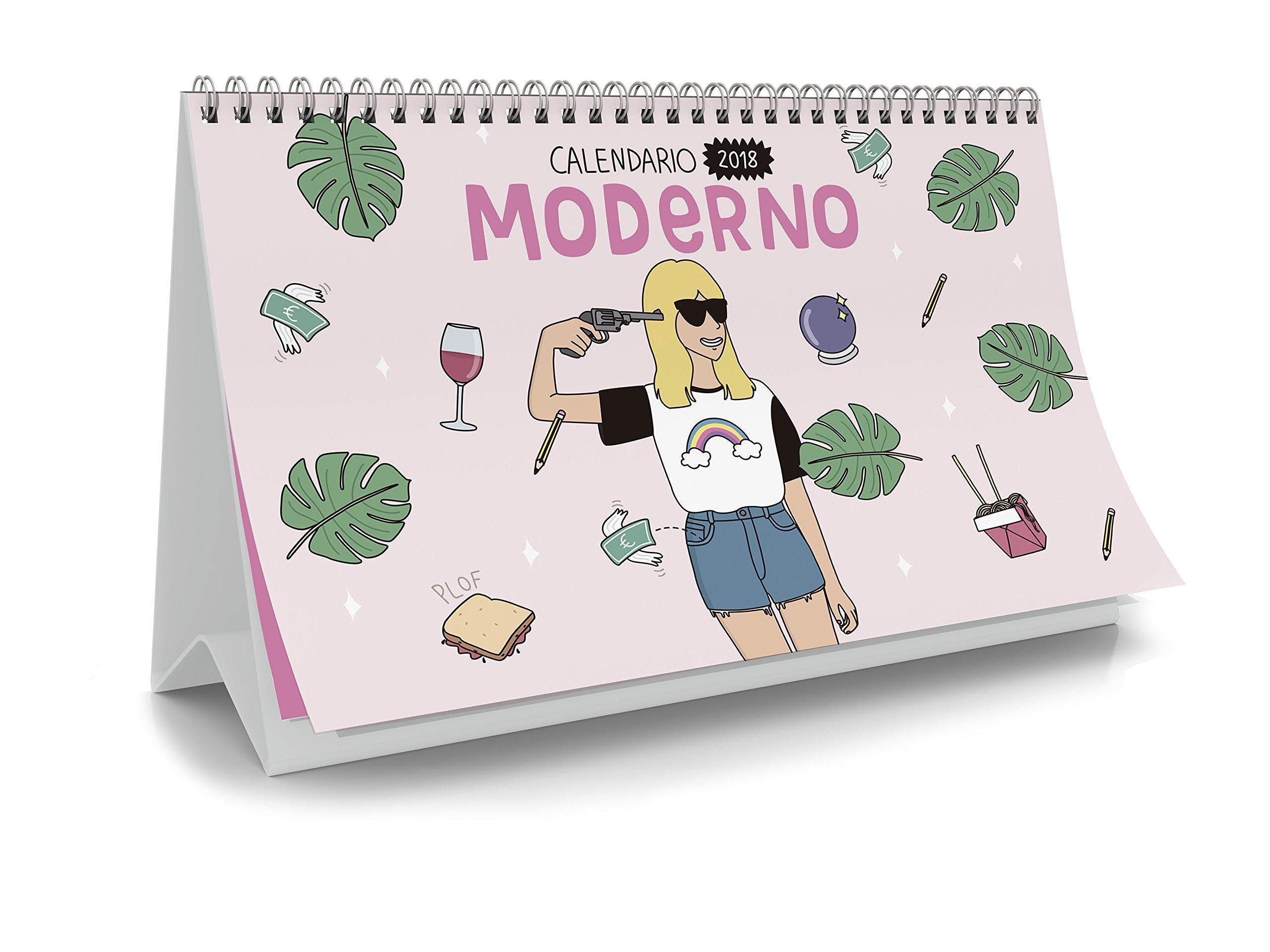 Moderna de Pueblo. Calendario mesa 2018: Amazon.es: Vv.Aa, Vv.Aa ...