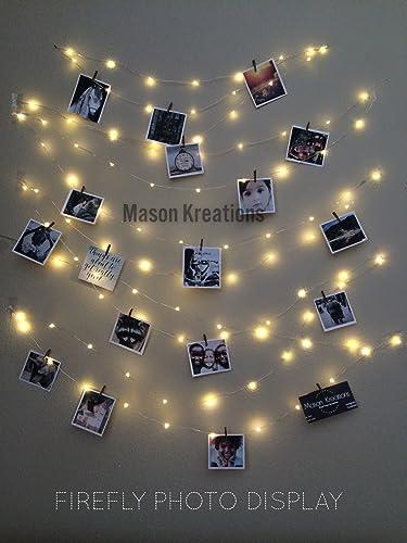 Amazon.com: Mason FireFly Lights Silver Wire - Craft clips ...