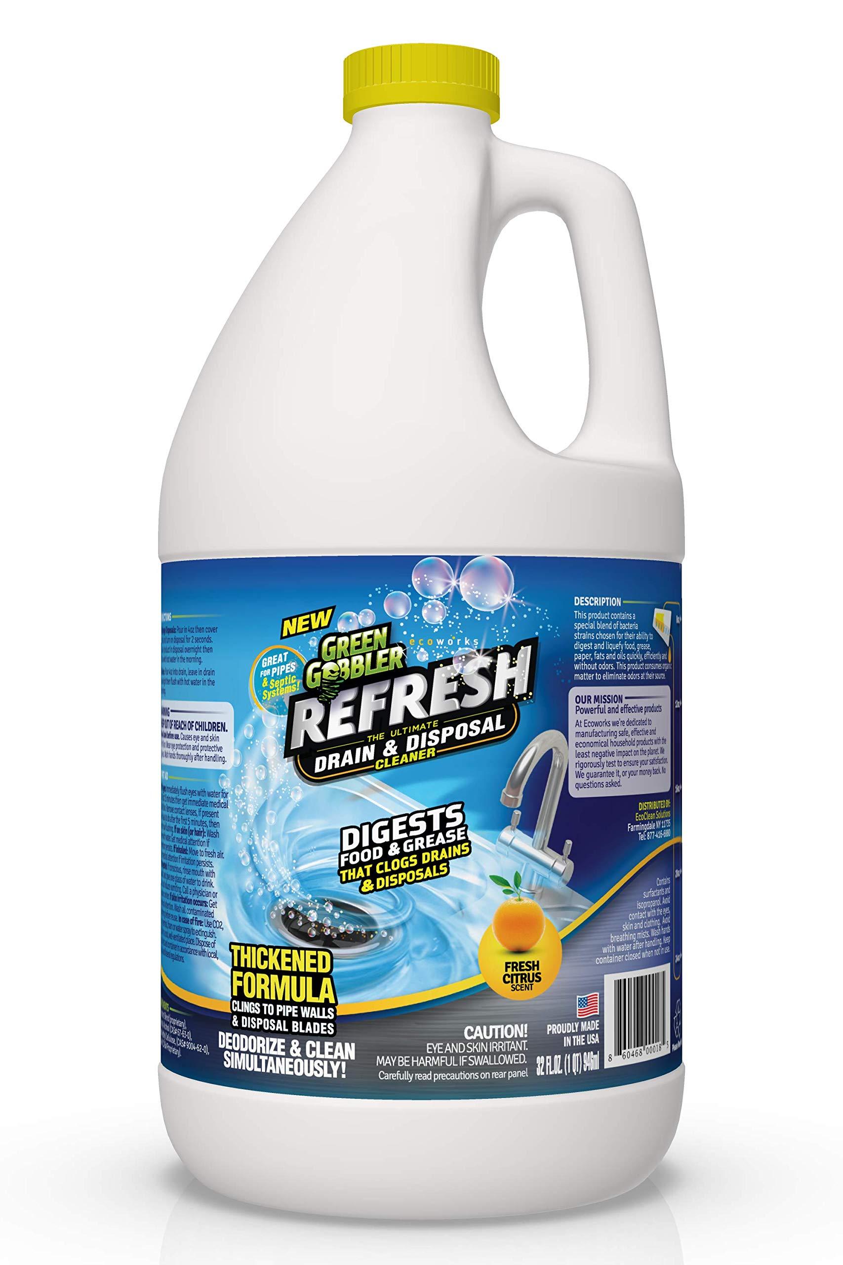 Green Gobbler ''Refresh Garbage Disposal & Drain Cleaner & Deodorizer (1 Gallon) by Green Gobbler