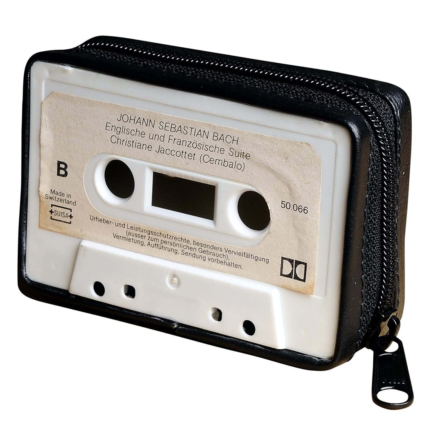 Small purse made of music cassette - FREE SHIPPING - cassettes tape recorder vintage retro lovers lover musician singer choir upcycled upcycle up-cycled recycled gorgeous smart person inspiration