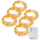Amazon Price History for:Kohree 6 Pack 10ft 60 LEDs Christmas String Lights, AA Battery Powered Decor Rope Lights For Seasonal Decorative Christmas Holiday, Wedding, Parties With Timer & Battery Box (Warm White)