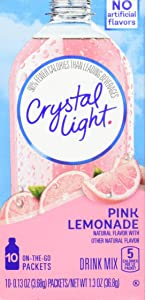 Crystal Light On The Go Pink Lemonade, 10-Packet Box (Pack of 4)