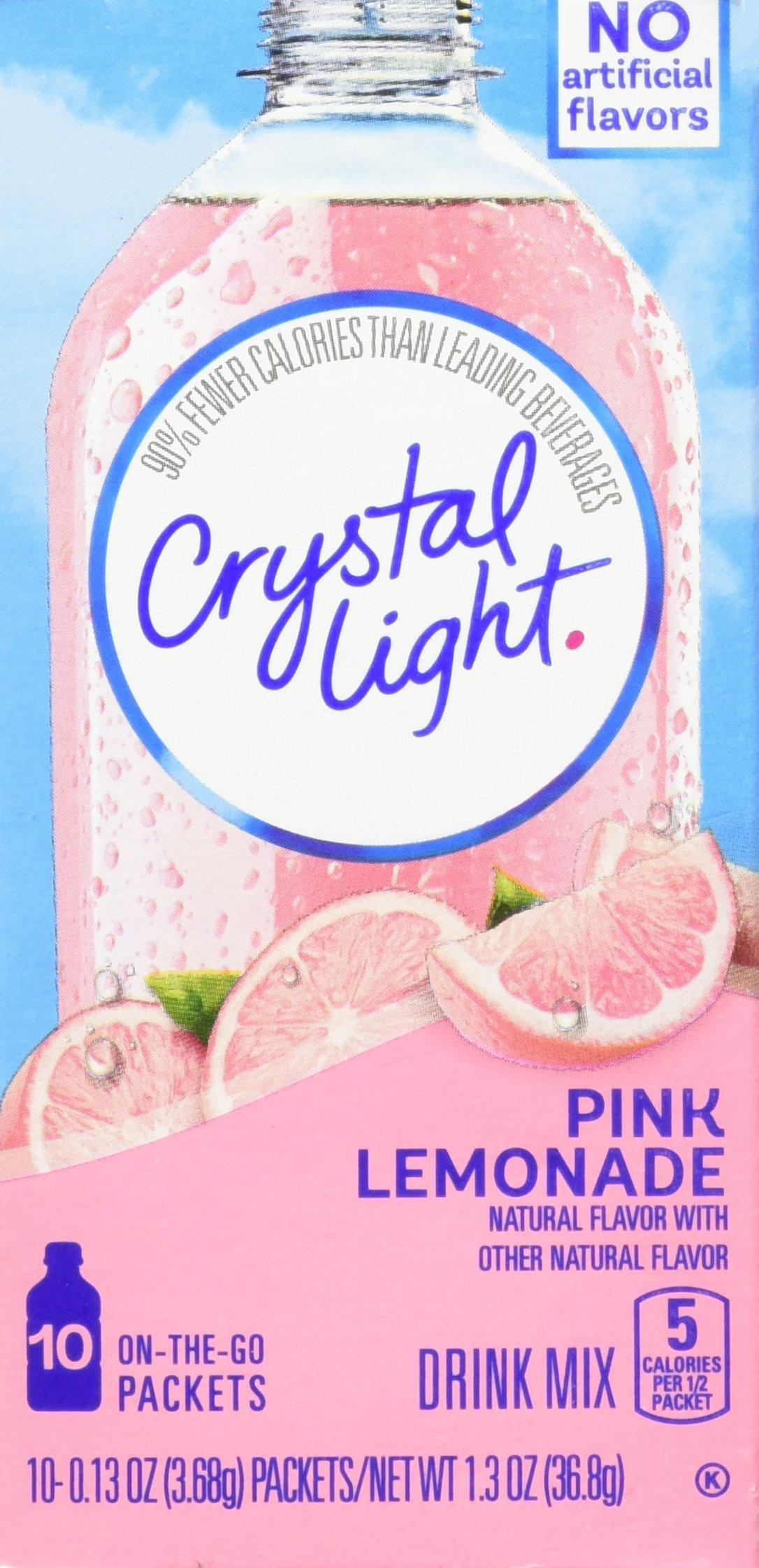 Amazon Com Crystal Light Lemonade 10 On The Go Packets