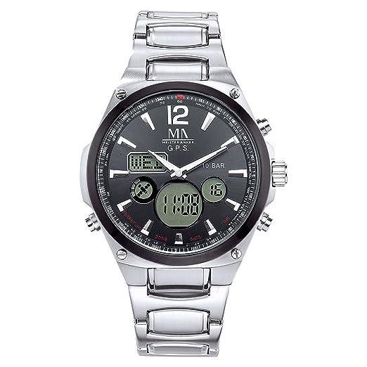 Meister Ancla Reloj de Hombre 23 cm Gris Quartz Cristal Mineral 490000130: Amazon.es: Relojes