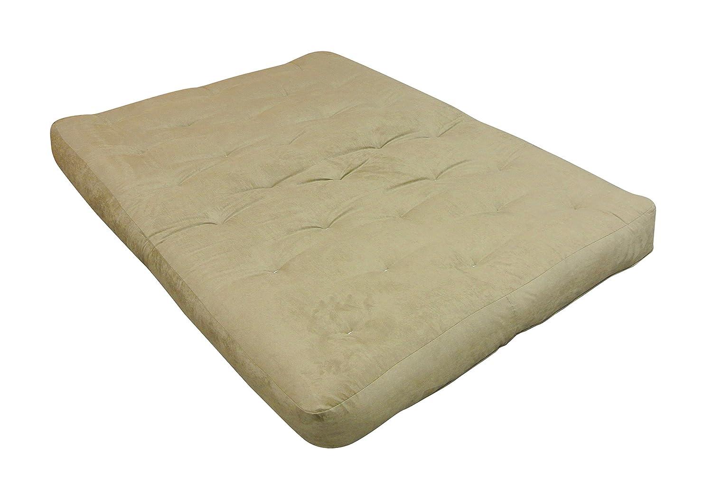 Microfiber Gold Bond 0612D0-0106 Double Foam /& Cotton 39 W x 10 H x 54 L Loveseat Futon Mattress Twin Black