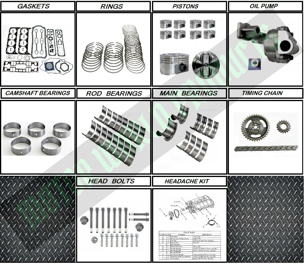 Gm 57 350 Vortec Rebuild Kit For 96 02 Vin R Truck Engine Diagram Engines Automotive