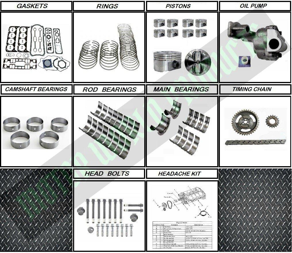 Gm 57 350 Vortec Rebuild Kit For 96 02 Vin R Truck 1997 Gmc K1500 Wiring Harness Engines Automotive