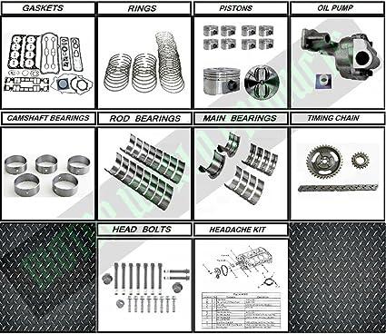Amazon.com: GM 5.7 350 Vortec Rebuild kit - For 96-02 Vin