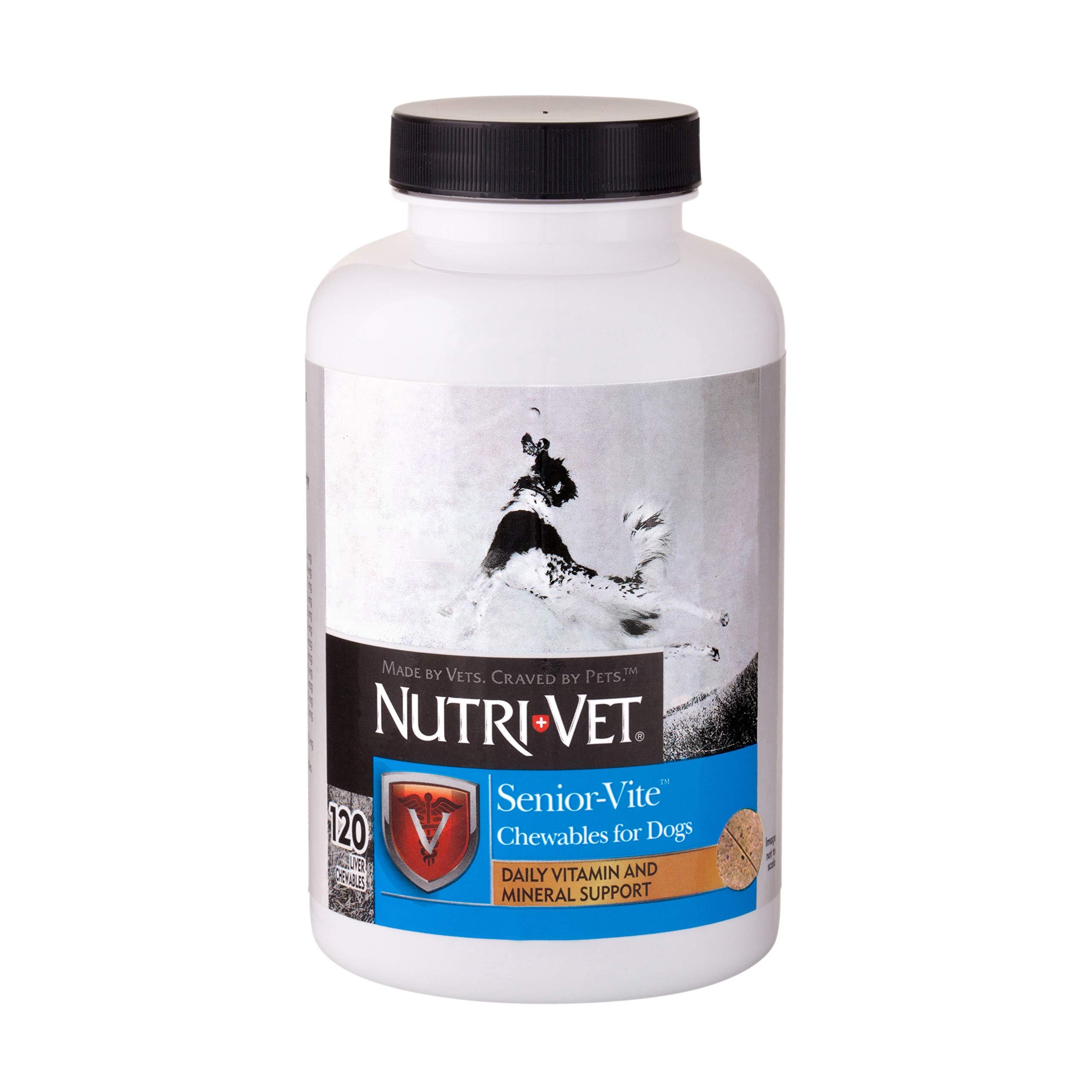 Nutri-Vet Senior-Vite Chewables for Dogs. 120 count by Nutri-Vet