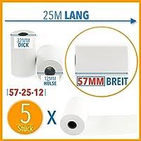 EC Cash rollos de papel térmico, Ancho: 57mm-Diámetro: