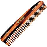 Kent R7T The Apsley Fine Tooth / Wide Tooth Comb for Beard Care and Mustache Comb - Pocket Comb Hair and Beard Comb…