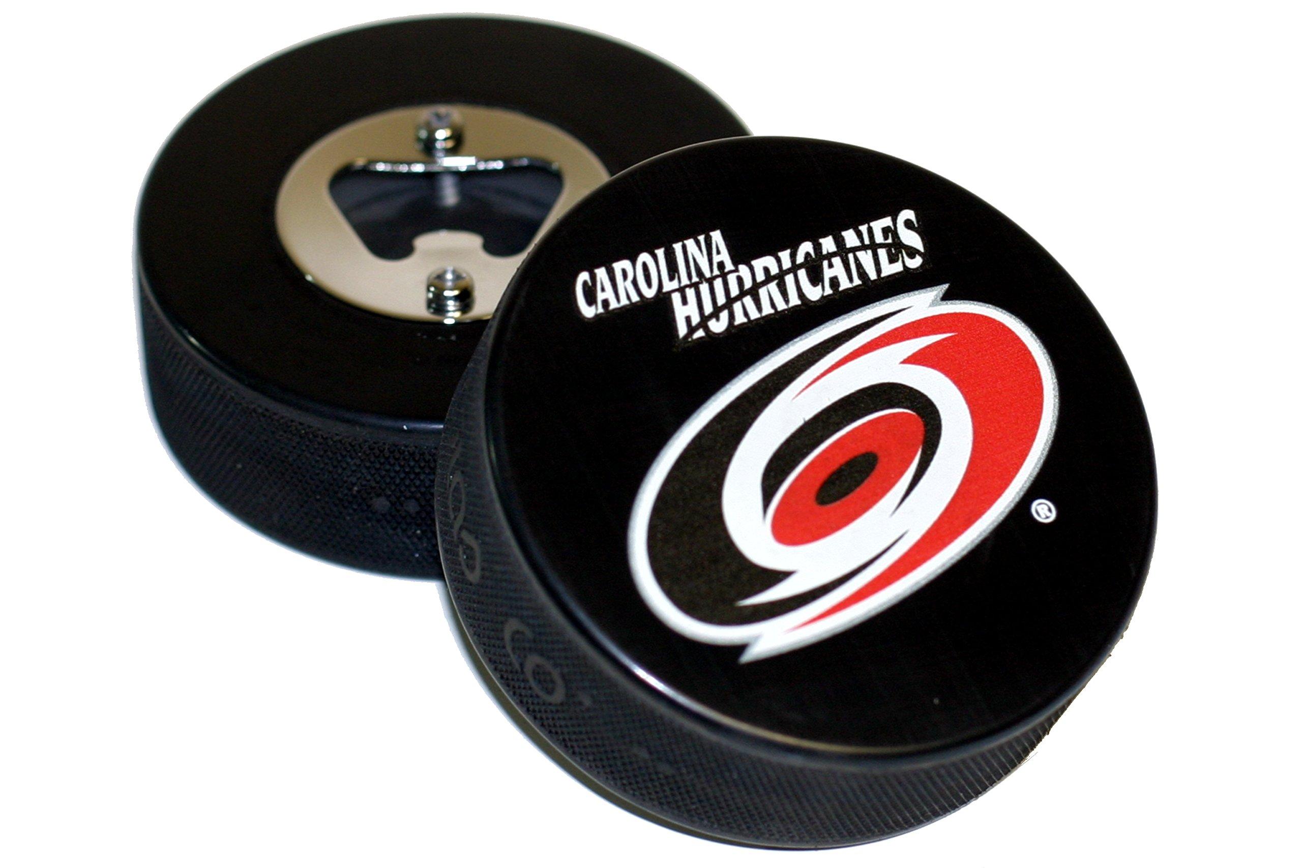 Carolina Hurricanes Basic Logo Hockey NHL Puck Bottle Opener