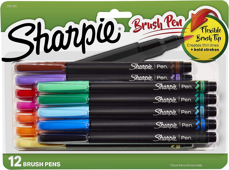Sharpie Bolígrafos de punta fina, plástico, Varios colores, 12-Count: Amazon.es: Oficina y papelería