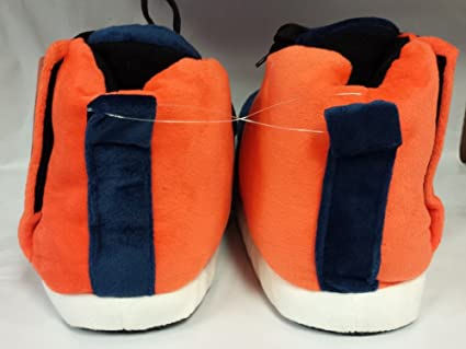 629d12c20605 Amazon.com   Forever Collectibles NFL Denver Broncos Puffy Velcro Sneakers  Slippers