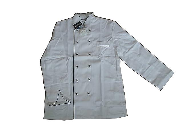 Purework - Giacca da chef - Uomo Bianco bianco  Amazon.it  Abbigliamento 94b29a20e6b9