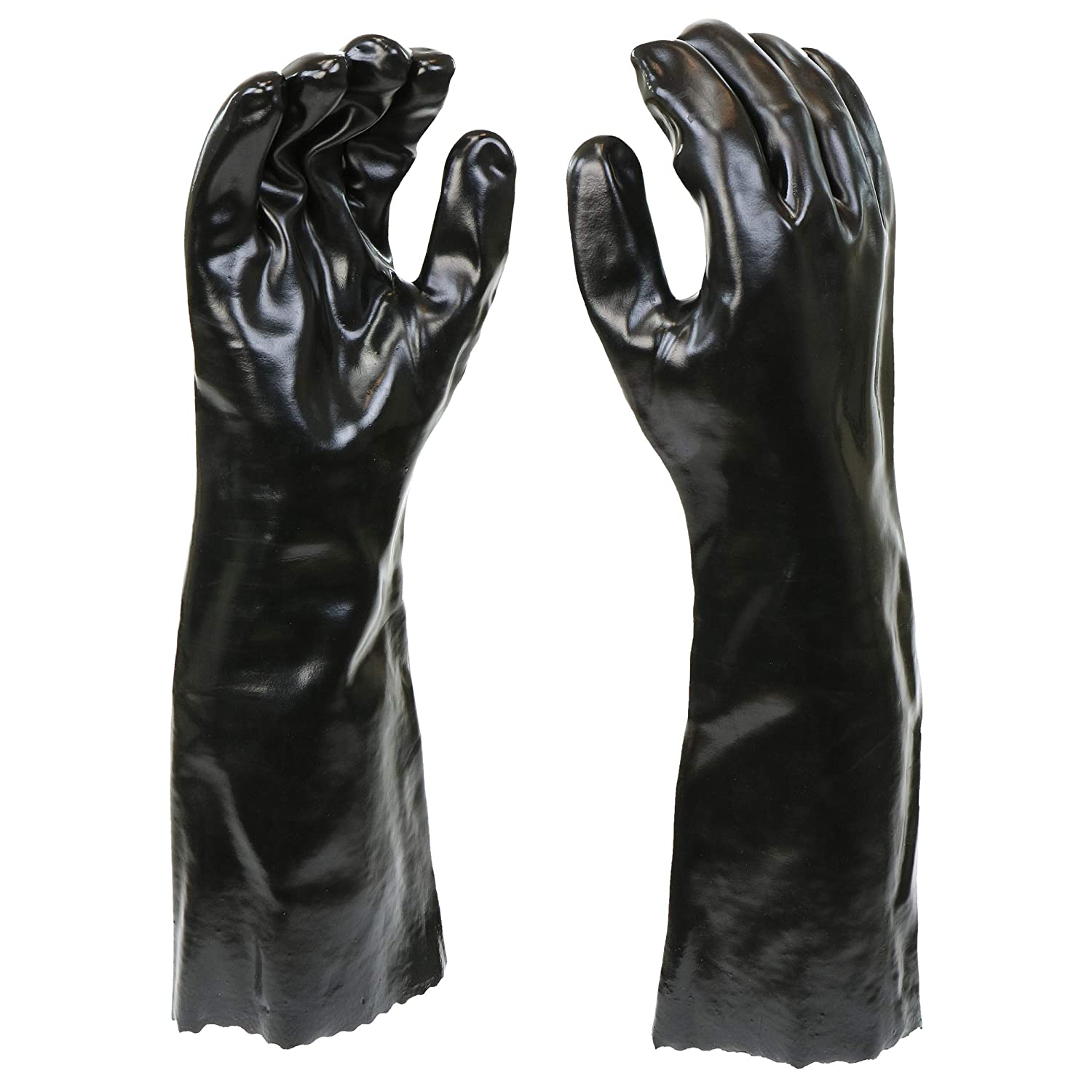 """West Chester 12018-L 12018 Chemical Resistant PVC Coated Work Gloves: 18"""" Length, One Size Fits Most, 1 Pair"""