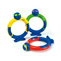 Zoggs Children's Water Soft Flexible Construction Toy Dive Rings - Multicolour, Above 3 Years