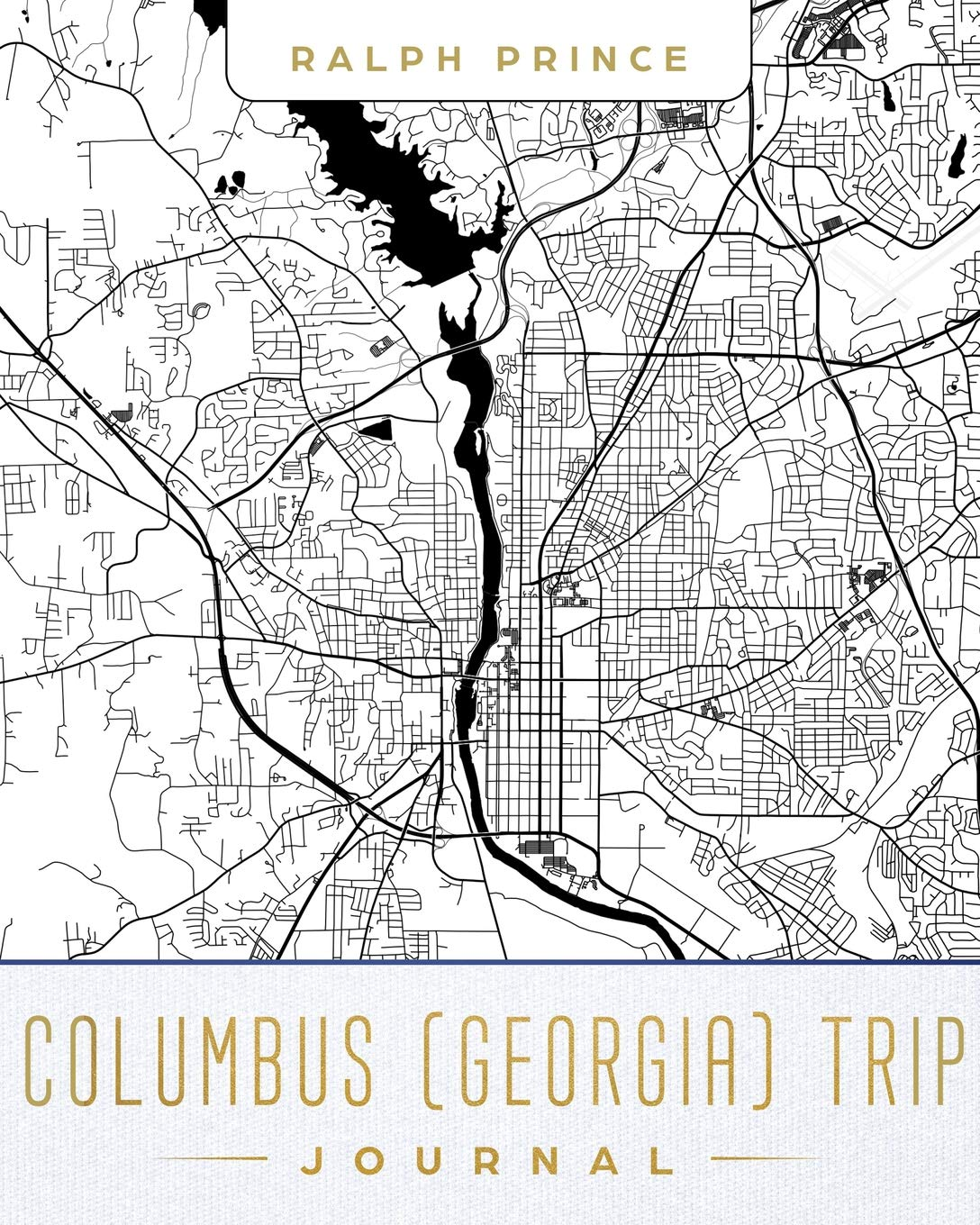 Map Of Columbus Georgia.Columbus Georgia Trip Journal Lined Travel Journal Diary Notebook