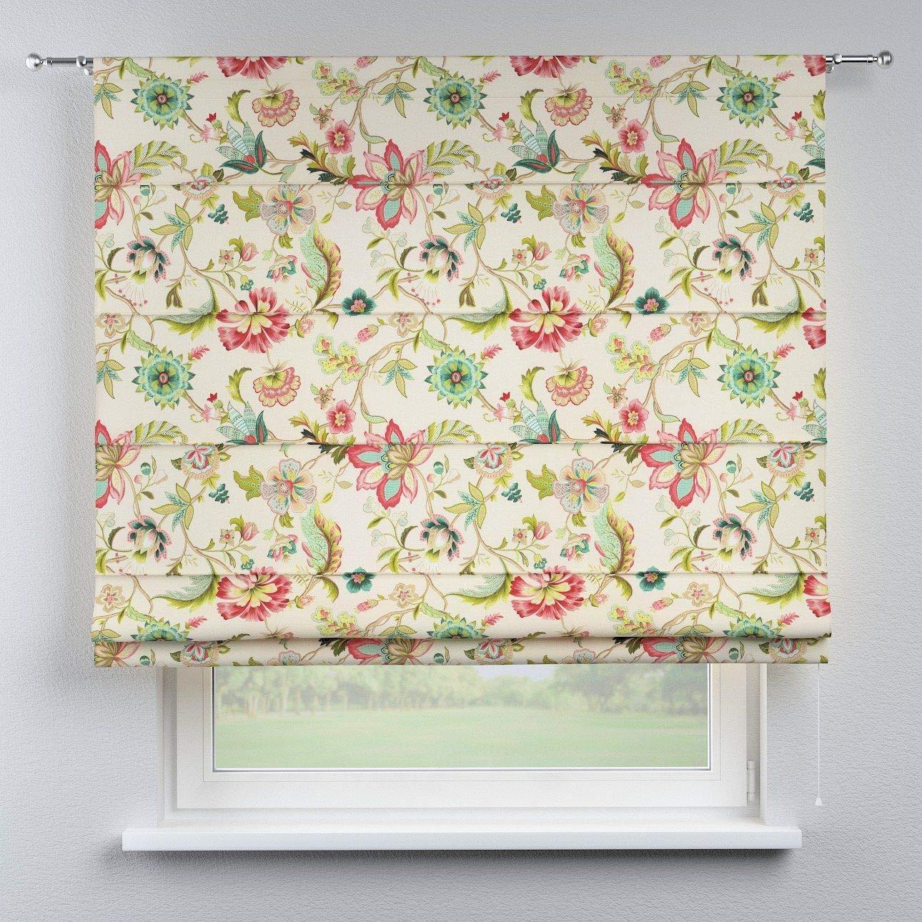Dekoria Raffrollo Torino ohne Bohren Blickdicht Faltvorhang Raffgardine Wohnzimmer Schlafzimmer Kinderzimmer 130 × 170 cm Ecru Raffrollos auf Maß maßanfertigung möglich